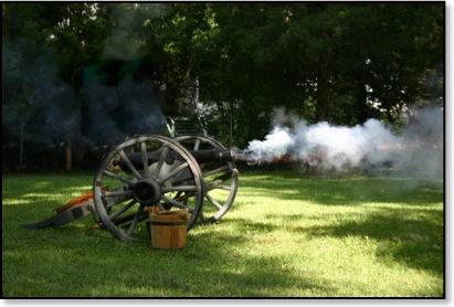 Firing the Four-pounder Cannon